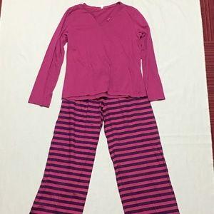 Intimo Pajama Set Pink & Purple M NEW